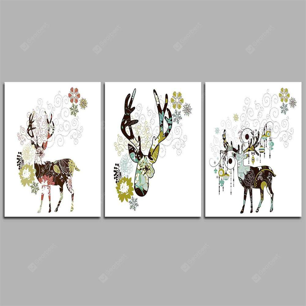 Hua Tuo Deer Style Stretched Frame Ready To Hang Size 50 x 70CM C1706