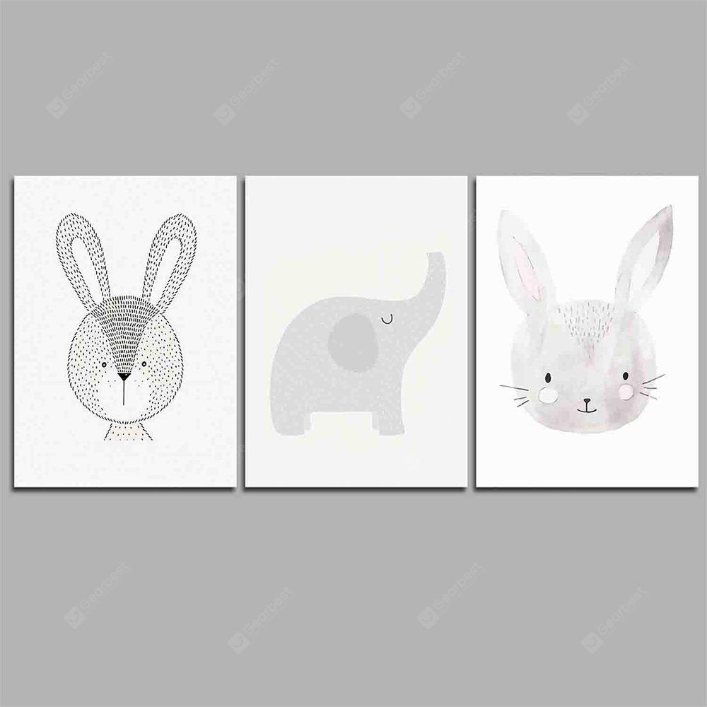 Hua Tuo Cartoon Animals  Style Stretched Frame Ready To Hang Size 50 x 70CM C1710