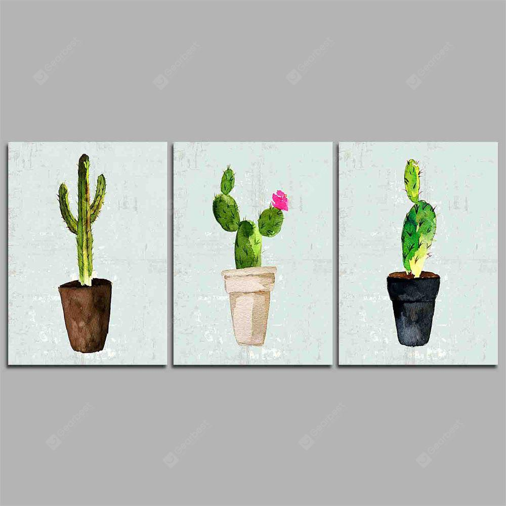Hua Tuo Plant Style Stretched Frame Ready To Hang Size 50 x 70CM C1718