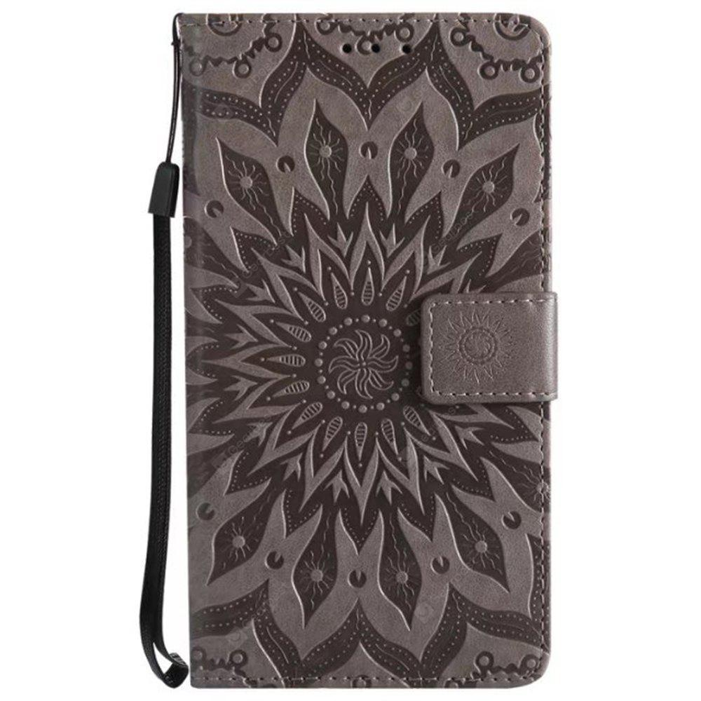 Pure Color Sunflower Pattern Leather for HTC U11