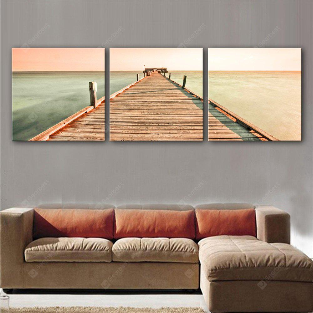 Special Design Frameless Paintings Plank Print 3PCS