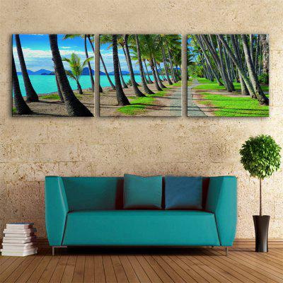 Special Design Frameless Paintings Tree Print 3PCS