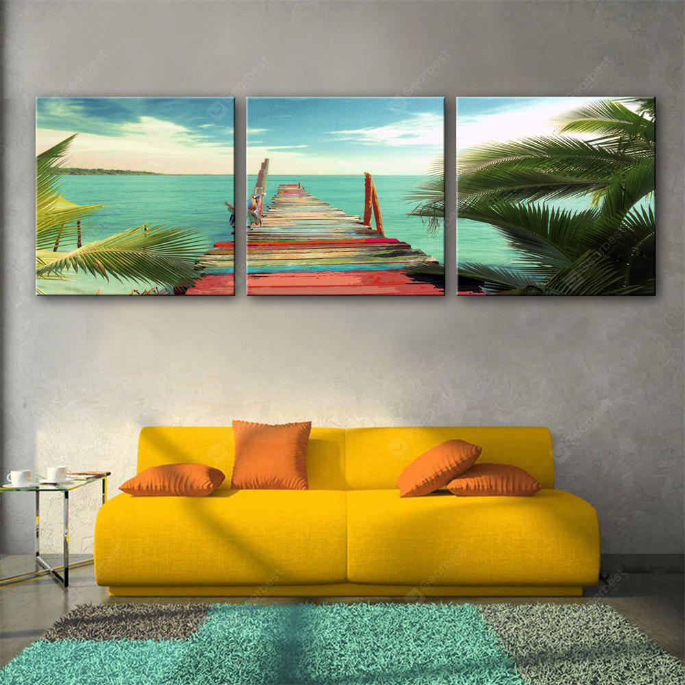 Special Design Frameless Paintings Color of the bridge Print 3PCS