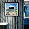 Special Design Frame Paintings The Illusion Of The Eye Print - BLUE