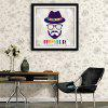 Special Design Frame Paintings Human Face Image Print - BLUE