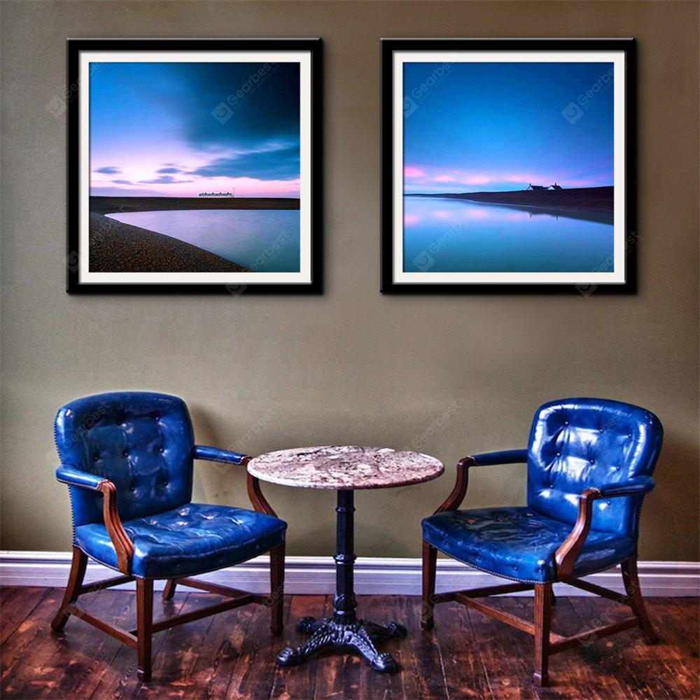 Special Design Frame Paintings Clear Water, Blue Sky Print 2PCS