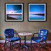 Special Design Frame Paintings Clear Water, Blue Sky Print 2PCS - BLUE