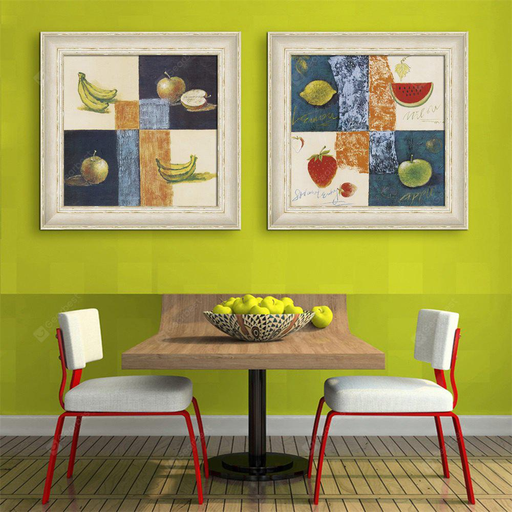 Special Design Frame Paintings An Apple A Banana Print 2PCS