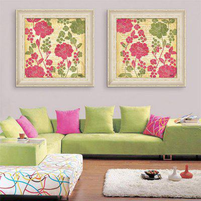 Special Design Frame Paintings Pure And Fresh Flowers Print 2PCS