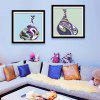 Special Design Frame Paintings Colored Pot Print 2PCS - COLORFUL
