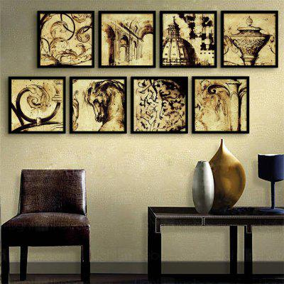 Special Design Frame Paintings Aristocracy Print 8PCS