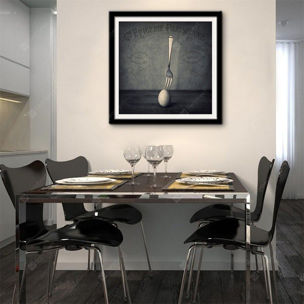Special Design Frame Paintings Forks And Eggs Print