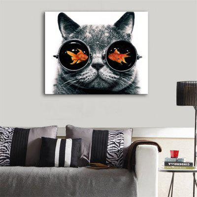 Special Design Frameless Paintings Cat Print