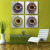 Special Design Frameless Paintings Silk Print 4PCS - RED