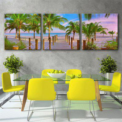 Special Design Frameless Paintings Rubber tree Print 3PCS