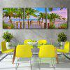 Special Design Frameless Paintings Rubber tree Print 3PCS - GREEN