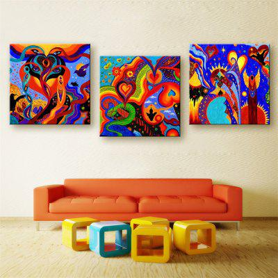 Special Design Frameless Paintings Marine organism Print 3PCS