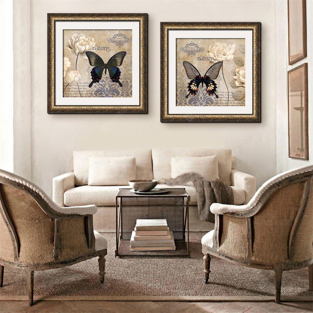 Special Design Frame Paintings  Butterfly Print 2PCS