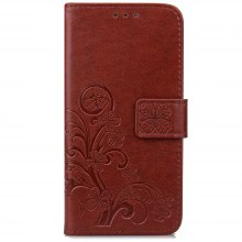 Lucky Clover Card Lanyard Pu Leather Cover for Lenovo A2020