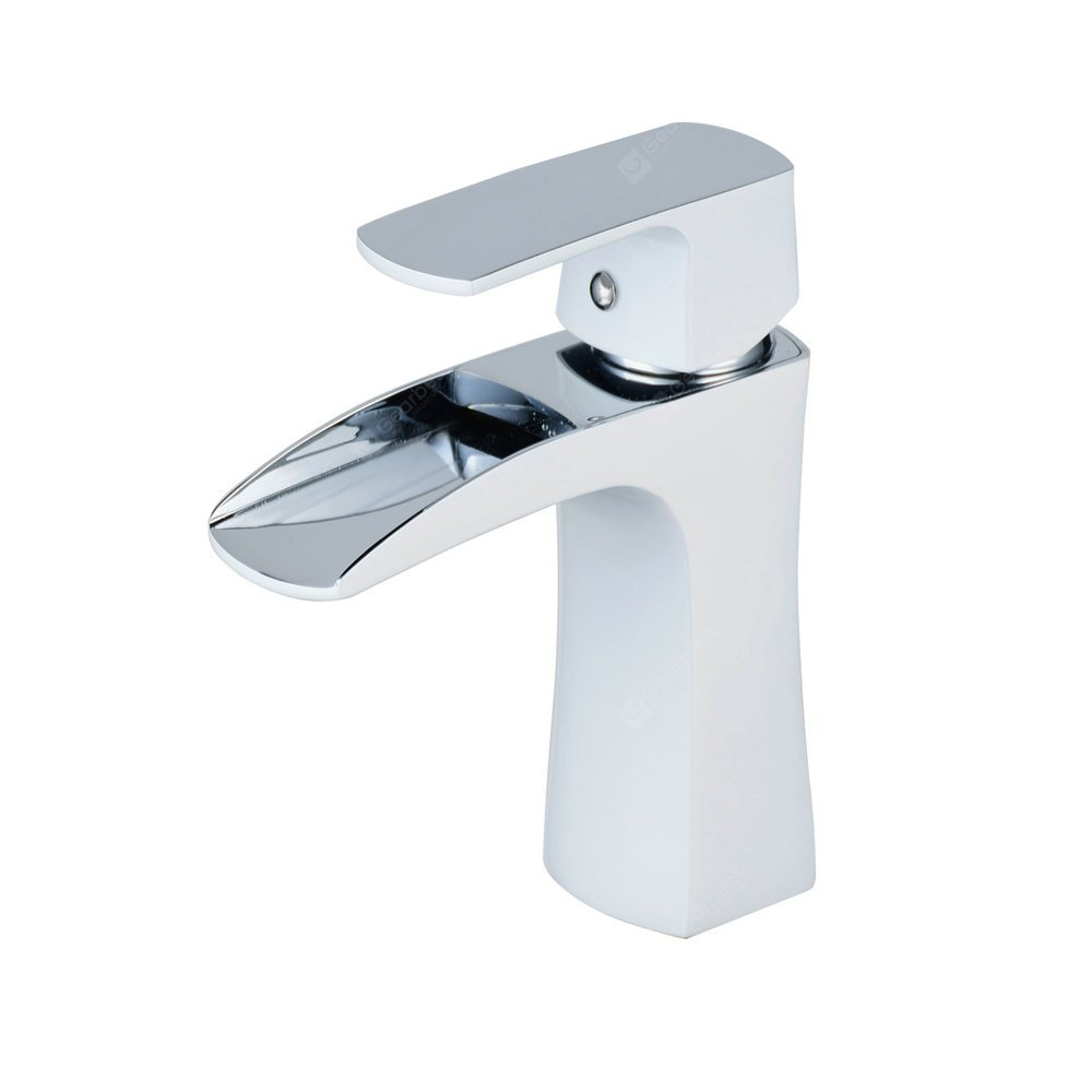 Chrome White Waterfall Bathroom Sink Lavatory Vessel Mixer Faucet ...