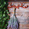 Cast Iron Antlers Coat Hook Suit - RED