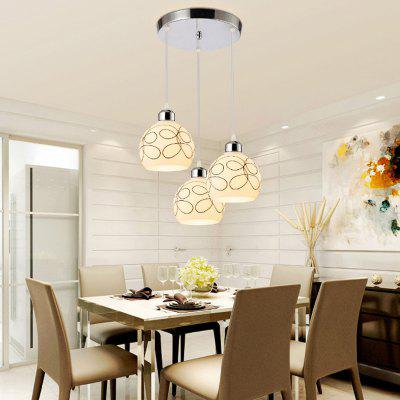 JUEJA Modern Pendant Light 3 Heads E27 Indoor Lighting for Dining Room Livingroom Bedroom Decoration Lamp