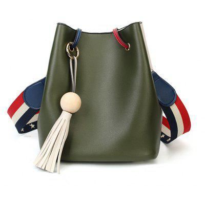 Edition Simple Bucket Bag Style Slanting Bag with A Bag of Casual Shoulder Bag