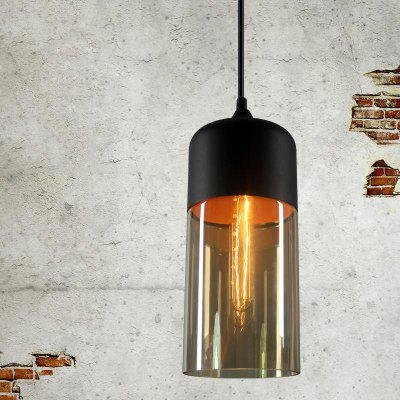 Buy AMBER Loft Vintage Industrial Amber Glass Pendant Lamp Fixtures Antique Retro Edison Candy Jar Ceiling Pendant Lights Sha for $48.99 in GearBest store