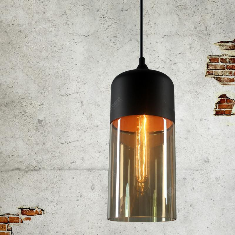 Loft Vintage Industrial Amber Glass Pendant Lamp Fixtures Antique Retro Edison Candy Jar Ceiling Pendant Lights Sha