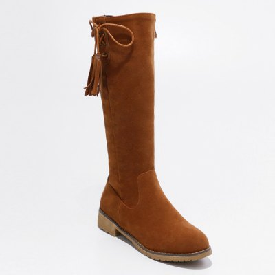 Femme Chaussures Zip Low Heel Riding Boots