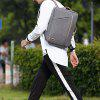 Mens  Waterproof Canvas Coded Lock 15 Inch Backpack Briefcse - GRAY