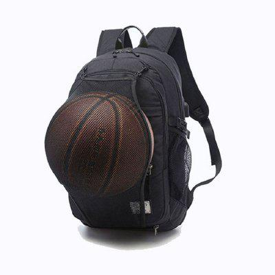 Mens Canvas Basketball Football Backpack 15 Inch Laptop Backpack