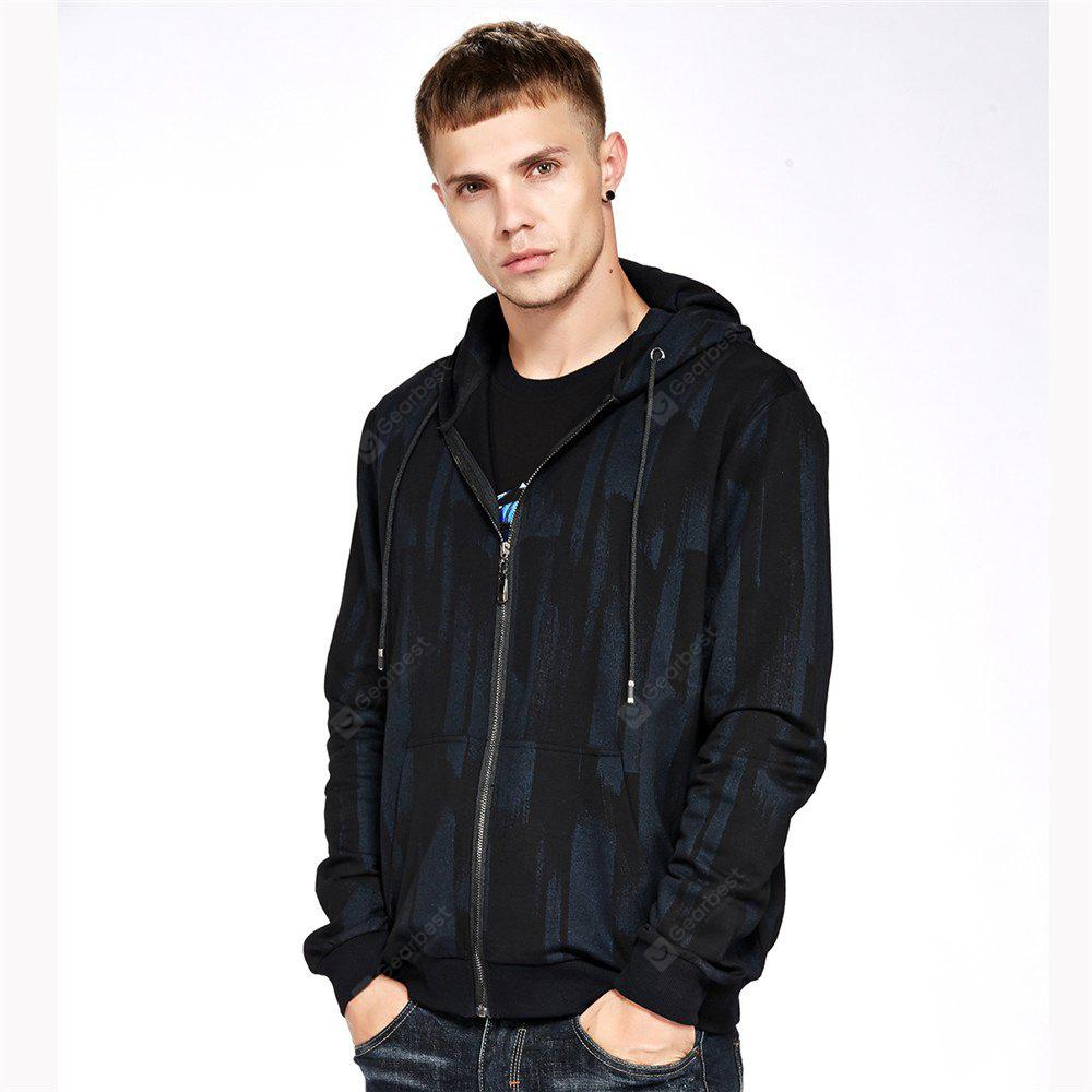 Men's Hoodie Casual Loose Print All Match Long Sleeve Hoodie