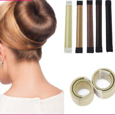 Synthetic Wig Donuts Bud Head Band Ball French Twist Magic DIY Tool     Hair Band