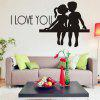 DSU venta caliente PS I Love You Vinilo Wall Quotes Stickers refranes Home Art Decal - NEGRO