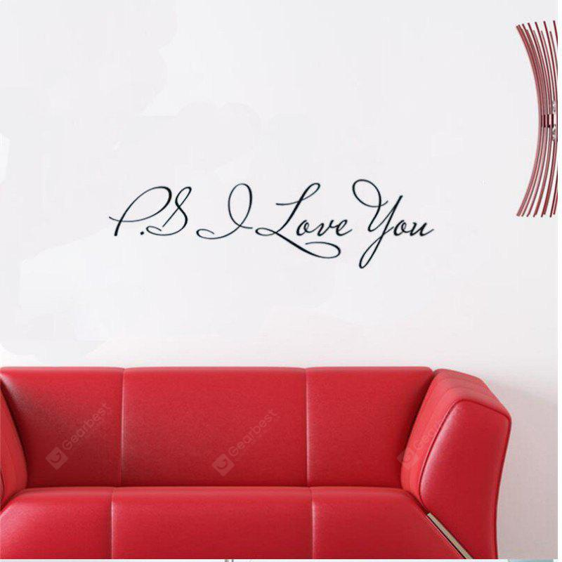 DSU PSI LOVE YOU DIY Extraíble Inglés Pegatinas de Pared Tatuajes de Pared Tatuajes de Pared Mural Tatuajes de Pared Pegatinas de Decoración