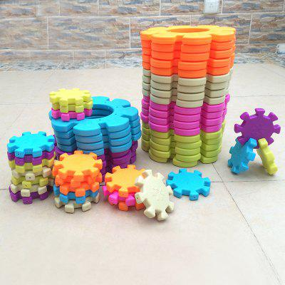 Large thick snowflakes blocks bottled gnucci kindergarten educational toys children's toys toy boy girl