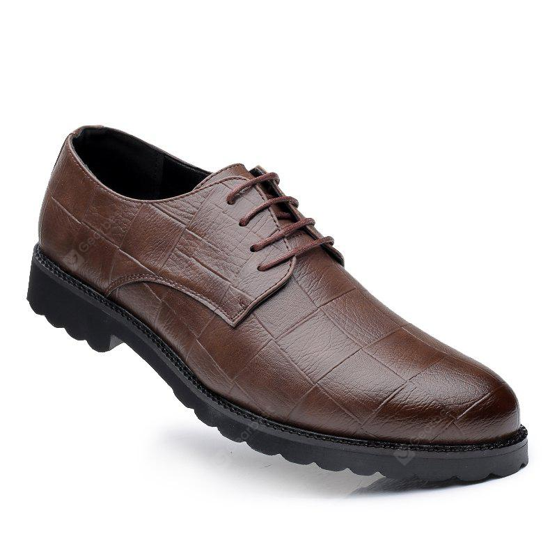 Men Casual Trend of Fashion Rubber Leather Solid Outdoor Wedding Busness Shoes