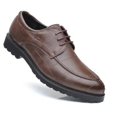 Men Casual Trend of Fashion Rubber Leather Solid Outdoor Wedding Business Shoes