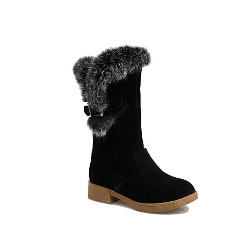Round Waterproof Platform Rough with Low Fashion in Boots
