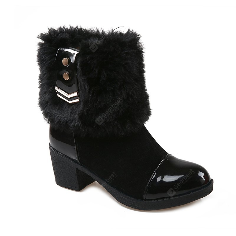 Round Head with Fashion Thick Stitching Short Boots