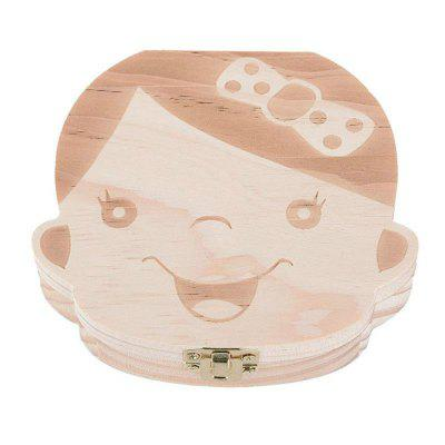Baby Organizer Dental Teeth Box Milk Tooth Wooden Container