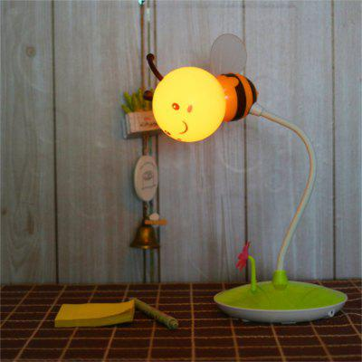 Cartoon Bee LED Lampe USB Lade Touch Dimming gelbes Licht