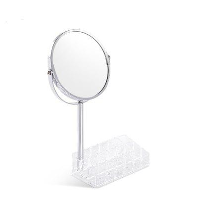 European Round Shaped Double-Side Beauty Makeup Mirror Standing