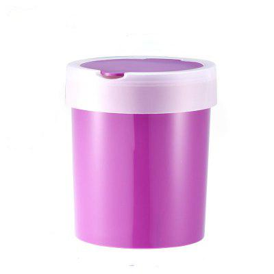Recycling Trash Can Fashion Mini Brushed Wave Cover Counter Top Trash Can Garbage Bin Wastebasket Perfect for Kitchen