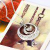 The Sun and MoonPendant Silver Necklace Women Clavicle Chain - SILVER