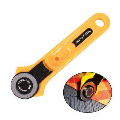Buy YELLOW Cut New Round Knife Home Sewing Tools Leather Craft Tools Circular Cut Patchwork Fabric Rotary Blade Cutter Sewing Tools for $3.80 in GearBest store