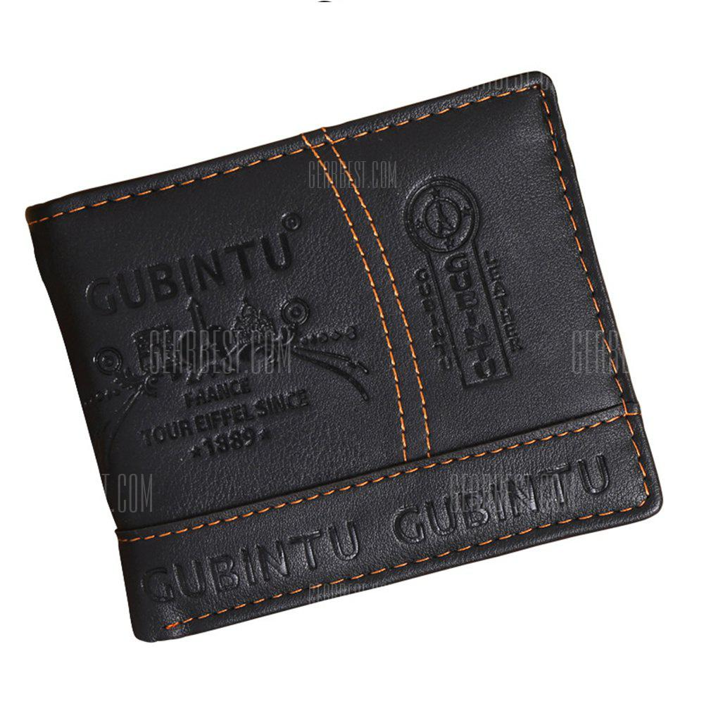 Leather Men PU Wallet Clutch Bags Card Holders Fashion Coin Purse Money Solid Male BLACK