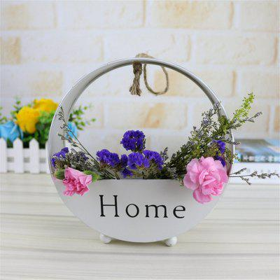Wall decoration of round type iron hanging wall