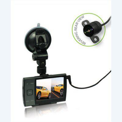 HD720P 3.5 Inch Screen Car Dash Cam Dvr Camera With Reversing Rear View Image
